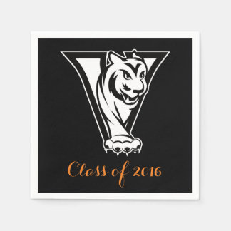 Valley High School Tiger Graduation Napkin