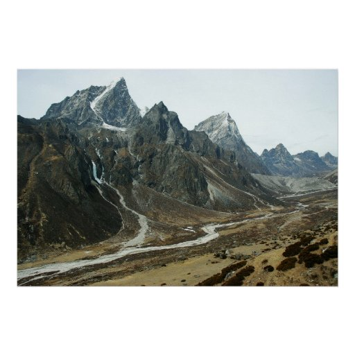 Valley in high Himalaya close to Mount Everest Poster