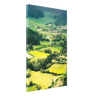 Valley in Sete Cidades Canvas Print