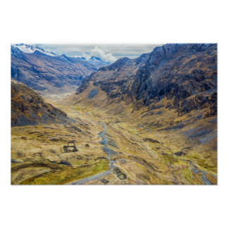 Valley in the Andes Mountains Poster
