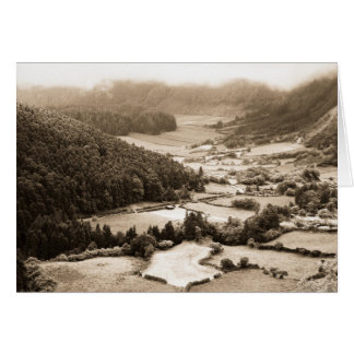 Valley in the Azores Greeting Card