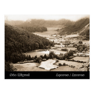 Valley in the Azores Postcard