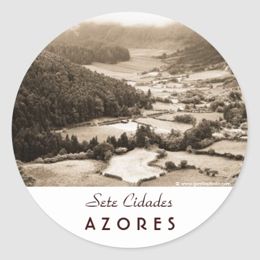 Valley in the Azores Stickers