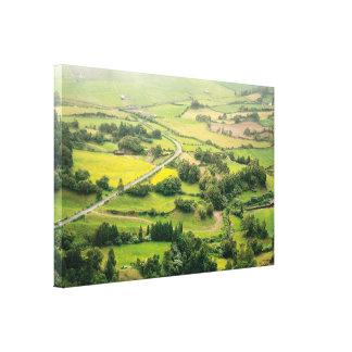 Valley landscape canvas print