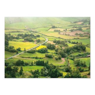 Valley landscape card