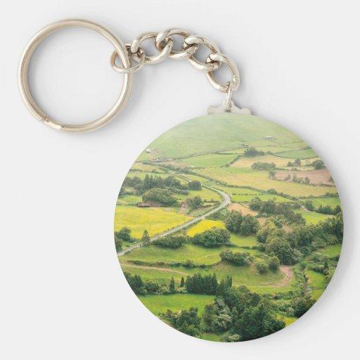 Valley landscape keychain