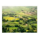 Valley landscape post card