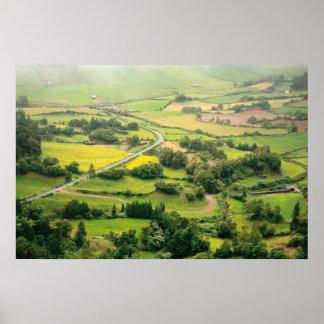 Valley landscape poster