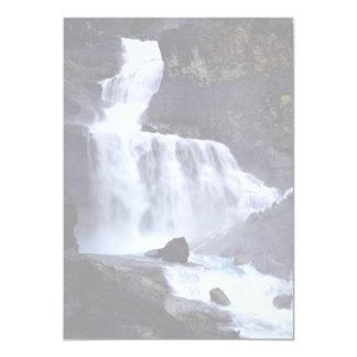 Valley of 1000 falls, U.S.A. 5x7 Paper Invitation Card