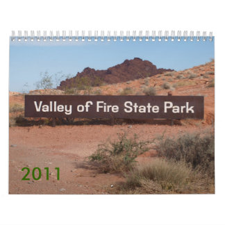 Valley of Fire 2011 Calendars