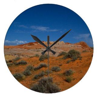 Valley of Fire Desert Landscape Wall Clock