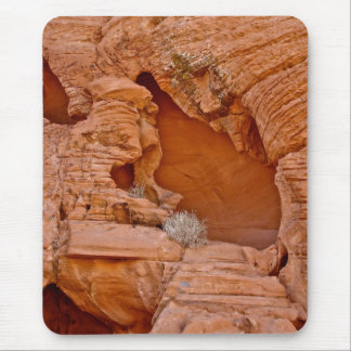 VALLEY OF FIRE ERODED DESERT ROCKS DETAIL MOUSE PAD