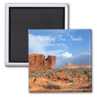 Valley of Fire, Nevada 2 Inch Square Magnet