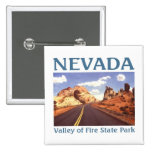 Valley of Fire Nevada Pinback Buttons
