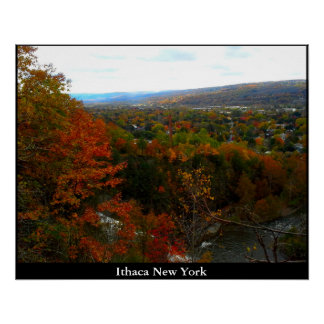 VALLEY OF ITHACA NEW YORK PERFECT POSTER