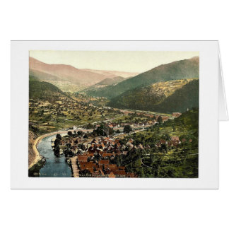 Valley of Murg from Eberstein, Baden-Baden, Baden, Greeting Card