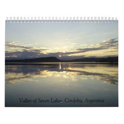 Valley of Seven Lakes Calendario