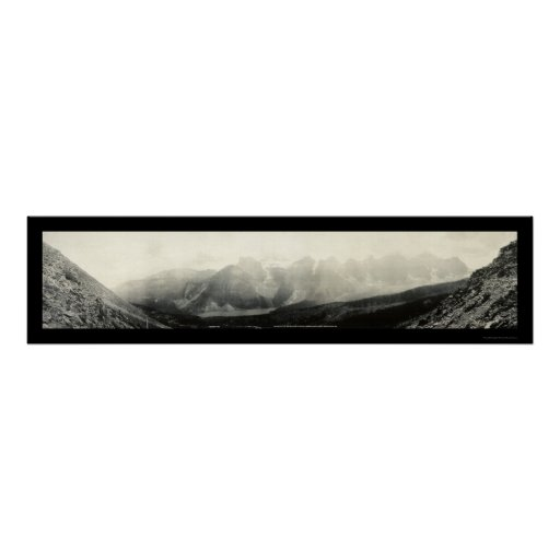 Valley Of The 10 Peaks Photo 1907 Poster