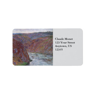 Valley of the Creuse (Gray Day) by Claude Monet Address Label