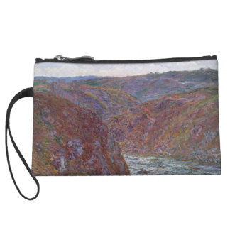 Valley of the Creuse (Gray Day) by Claude Monet Wristlet Purses