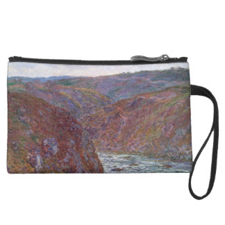 Valley of the Creuse (Gray Day) by Claude Monet Wristlet Purse