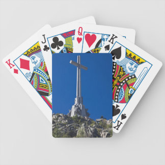 Valley of the fallen, monument bicycle card decks