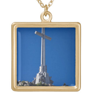 Valley of the fallen, monument square pendant necklace
