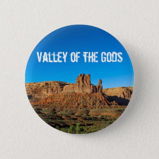 Valley of the Gods Blue Skies Butte Pinback Button
