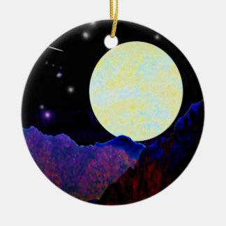 Valley of the Moon Ceramic Ornament
