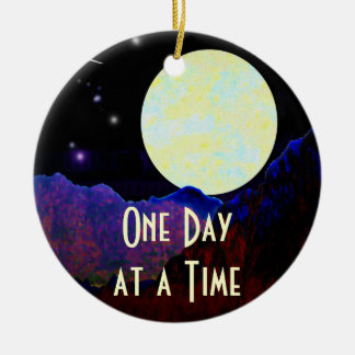 Valley of the Moon ODAT Double-Sided Ceramic Round Christmas Ornament