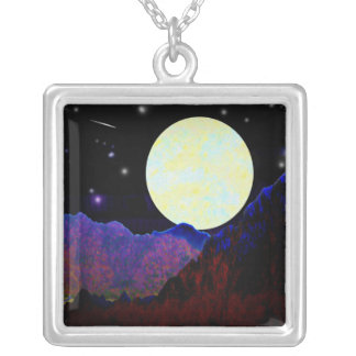 Valley of the Moon Silver Plated Necklace