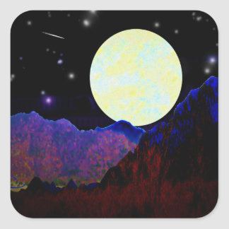 Valley of the Moon Square Sticker