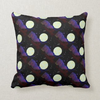 Valley of the Moon Tiled Pattern Throw Pillow