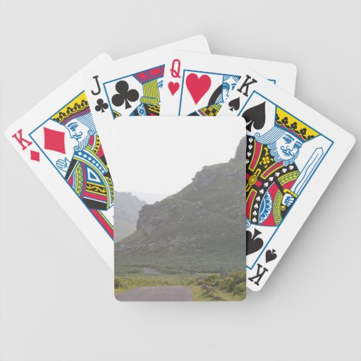 Valley of The Rocks, Devon. Bicycle Poker Deck