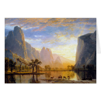 Valley of the Yosemite Card