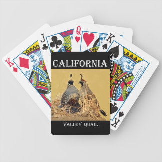 Valley Quail (California) Bicycle Playing Cards