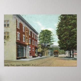 Valley Rd Upper Montclair NJ 1911 Vintage Print