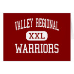 Valley Regional - Warriors - High - Deep River Greeting Cards