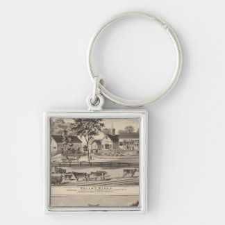 Valley Ridge and Buell residences Keychain