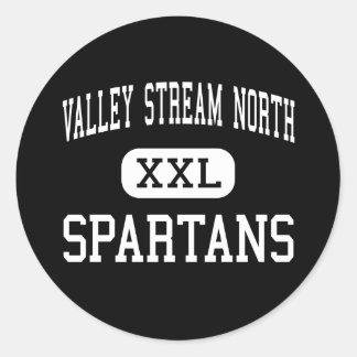 Valley Stream North - Spartans - Franklin Square Classic Round Sticker