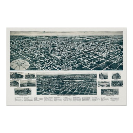 Valley Stream, NY Panoramic Map - 1924 Poster
