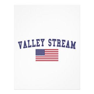 Valley Stream US Flag Letterhead