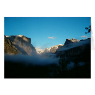 valley view after storm greeting card