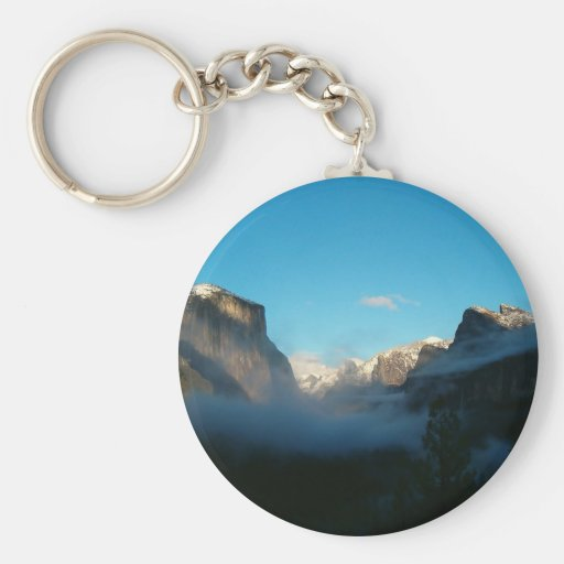 valley view after storm key chain