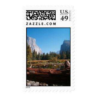 valley view in fall stamp