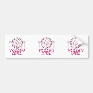valley volley girl volleyball design car bumper sticker