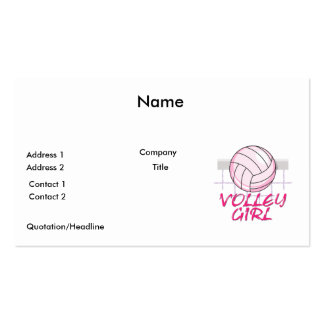 valley volley girl volleyball design Double-Sided standard business cards (Pack of 100)