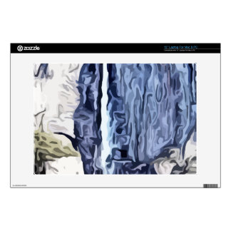 Valley waterfall painting laptop skins