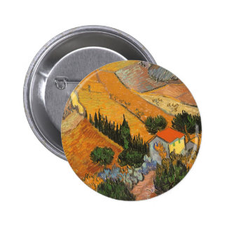 Valley with Ploughman by Vincent van Gogh Button