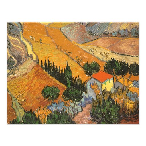 Valley with Ploughman by Vincent van Gogh Invitations